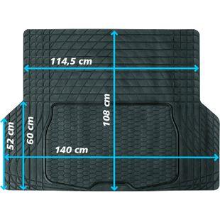 JOM Kofferraummatte,Gummimatte 140 x 108 cm universal zuschneidbar Kofferraumschutz