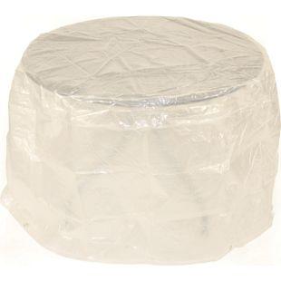 DEGAMO Abdeckhaube Tisch 125x70cm rund, PE transparent