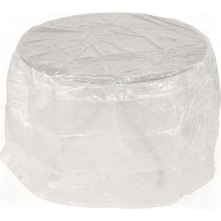 DEGAMO Abdeckhaube Tisch 70x70cm rund, PE transparent
