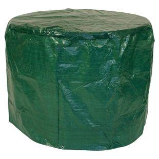 DEGAMO Abdeckhaube Tisch 100x70cm rund, PE dunkelgrün