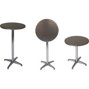 DEGAMO Stehtisch MARCEL 60cm rund, Aluminium + Edelstahl, klappbar