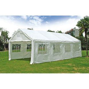 DEGAMO Party - Zelt PALMA 4x8 Meter, PE weiss