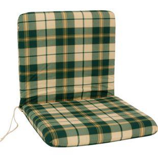DEGAMO Auflage BOSTON für Sessel, grün/beige kariert