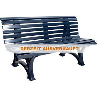 gartenmoebel-einkauf Bank HELGOLAND 3-sitzer, Kunststoff blau