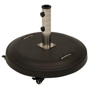 DEGAMO Schirmständer 50kg rund, Beton schwarz, mit Rollen