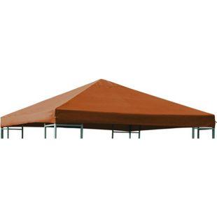 DEGAMO Ersatzdach für Metall- und Alupavillon 3x3 Meter terracottafarben, wasserdicht PVC-beschichtet