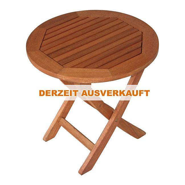degamo klapp beistelltisch saigon 48cm rund eukalyptus ge lt online kaufen. Black Bedroom Furniture Sets. Home Design Ideas