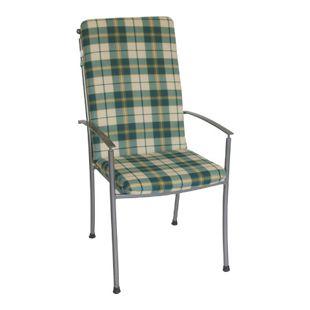 DEGAMO Auflage BOSTON für Hochlehner-Sessel, grün/beige kariert