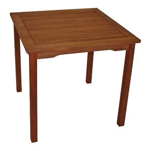 DEGAMO Tisch LAGO 80x80cm, Eukalyptus geölt,