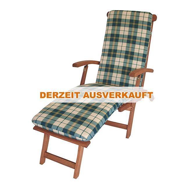 degamo auflage boston f r deckchair gr n beige kariert online kaufen. Black Bedroom Furniture Sets. Home Design Ideas
