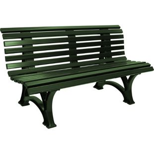 gartenmoebel-einkauf Bank HELGOLAND 3-sitzer, Kunststoff grün