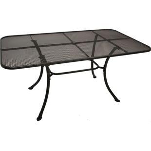 DEGAMO Tisch RIVO 160x90cm, Streckmetall eisengrau