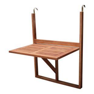 DEGAMO Balkonhängetisch 60x40cm, Akazienholz geölt