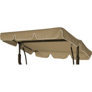 DEGAMO Ersatzdach / Dachplane SUN 184x137cm für Hollywoodschaukel, cremefarben