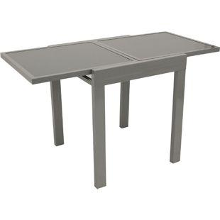 DEGAMO Balkon-Ausziehtisch AMALFI 65/130x65cm, Aluminium + Glas