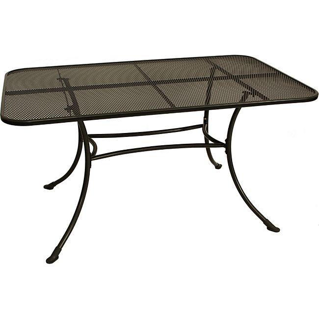 gartenmoebel einkauf tisch rivo 145x90cm streckmetall eisengrau online kaufen. Black Bedroom Furniture Sets. Home Design Ideas