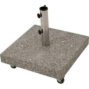 DEGAMO Schirmständer 50kg mit Rollen, Granit hellgrau