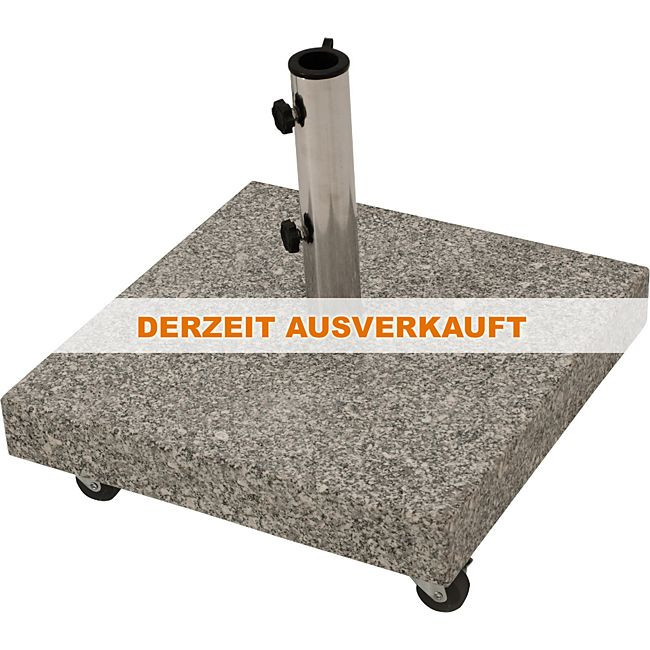 degamo schirmst nder 50kg mit rollen granit hellgrau online kaufen. Black Bedroom Furniture Sets. Home Design Ideas