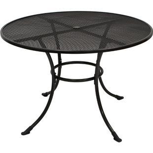 DEGAMO Tisch RIVO 110cm rund, Streckmetall eisengrau