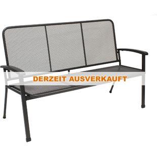 DEGAMO Gartenbank 3-sitzer aus Streckmetall, 150cm