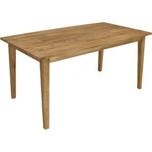 """DEGAMO Tisch VALLETTA 90x160cm, Akazie """"Brushed wash"""" (gebürstet)"""