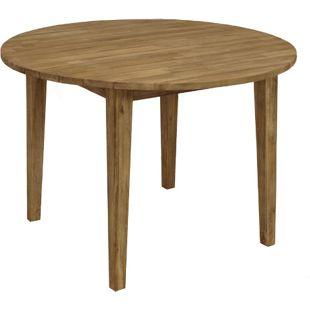 """DEGAMO Tisch VALLETTA 110cm rund, Akazie """"Brushed wash"""" (gebürstet)"""