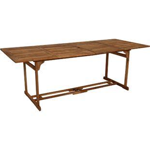 DEGAMO Holztisch KORFU XL rechteckig, 90x220cm, Akazie geölt