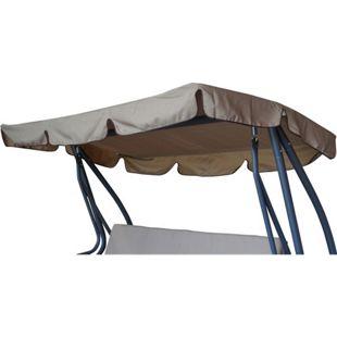 DEGAMO Dachplane für Hollywoodschauk MIAMI 232x120cm, cremefarben