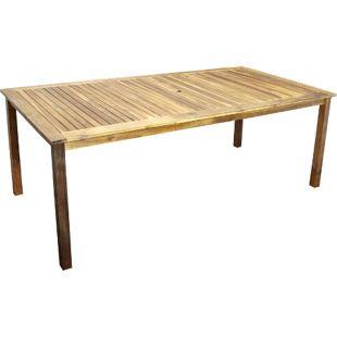 DEGAMO Holztisch CARTAGO rechteckig, 90x200cm, Akazie geölt