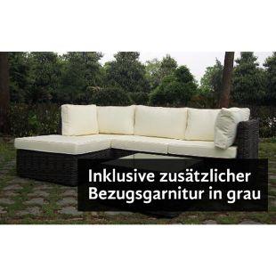 Baidani Rundrattan Garten Lounge Time Out inkl. 2. Bezugsgarnitur