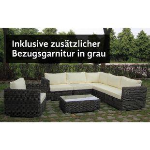Baidani Rundrattan Garten Lounge Razor inkl. 2. Bezugsgarnitur