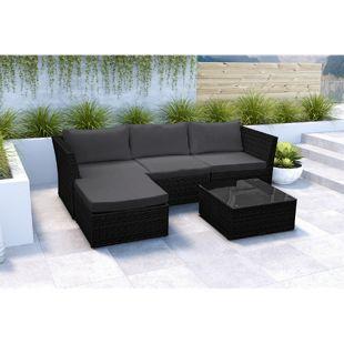 Baidani Rattan Garten Lounge Starlight inkl. 2. Bezugsgarnitur
