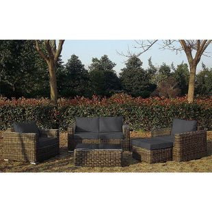 Baidani Rundrattan Garten Lounge Present