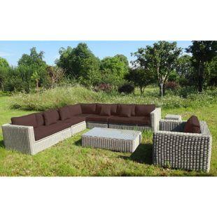 Baidani Rundrattan Garten Lounge Celebration Select integrierter Stauraum