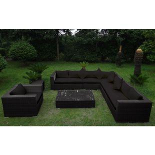 Baidani Rattan Garten Lounge Eastside Select integrierter Stauraum