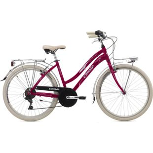 26 Zoll Cinzia Tiffany Damen City Fahrrad Aluminium 6-Gang... pink