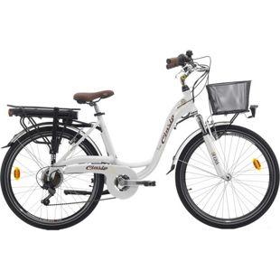 26 Zoll Damen Elektro Fahrrad Cinzia Sfera... weiß