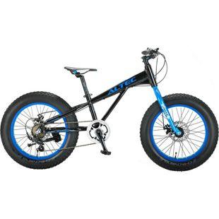20 Zoll Jungen Fat Mountainbike 6 Gang Hoopfietsen Allround... schwarz-blau