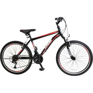 24 Zoll Jungen Mountainbike 21 Gang Hoopfietsen Kronos... schwarz-rot