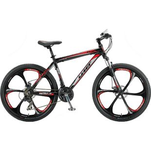 26 Zoll Herren Mountainbike 21 Gang Hoopfietsen Accrue... schwarz-rot