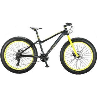 26 Zoll Herren Fat Mountainbike 21 Gang Hoopfietsen Allround... schwarz-gelb