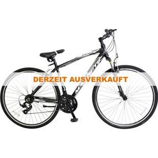 28 Zoll Herren Trekking Fahrrad 21 Gang Hoopfietsen Magnetic... schwarz-weiß