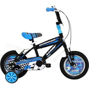 12 Zoll Jungen Fahrrad Hoopfietsen Superbomber... schwarz-blau