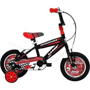 12 Zoll Jungen Fahrrad Hoopfietsen... schwarz-rot