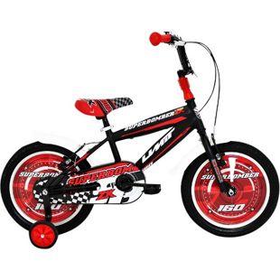 16 Zoll Jungen Fahrrad Hoopfietsen Superbomber... schwarz-rot