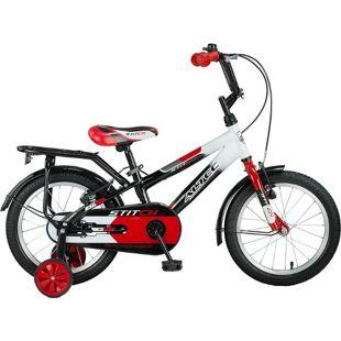 16 Zoll Jungen Fahrrad Hoopfietsen Stitch... schwarz-rot