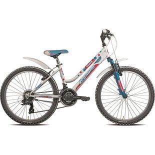 24 Zoll Mädchen Fahrrad Legnano Fantasy 18 Gang... weiß-blau