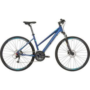 28 Zoll Damen Mountainbike 27 Gang Shockblaze... blau, 48 cm