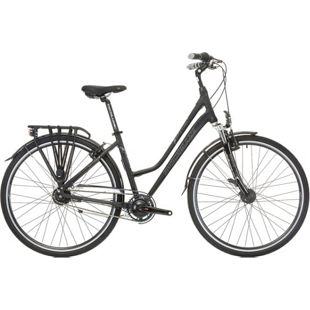 28 Zoll Damen Trekking Fahrrad 8 Gang Shockblaze... schwarz, 45cm