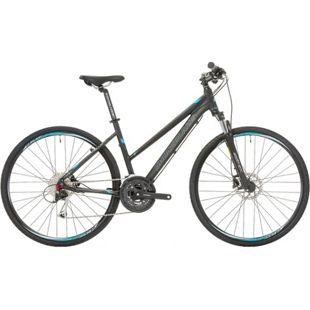28 Zoll Damen Mountainbike 27 Gang Shockblaze... schwarz, 45 cm